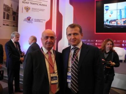 Директор Ассоциации «ТАМА»Н.О.Блудян и зам. Министра транспорта РФ Н.А.Асаул