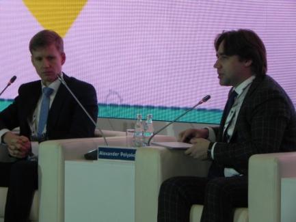 Алексей Бакирей и Александр Поляков, директор ГУП «МосгортрансНИИпроект».