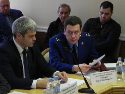 Выступление с докладом Прокурора межрегиональной транспортной прокуратуры С.В.Забатурина