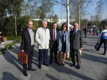 Участники Научного совета на ознакомительной экскурсии по парку «Зарядье»