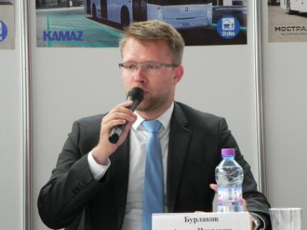 А.И. Бурлаков — Начальник отдела реализации специальных проектов ГУП «Мосгортранс»
