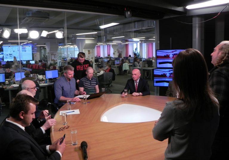 Блудян Норайр Оганесович на круглом столе на тему «Когда Москва поедет быстрее?»