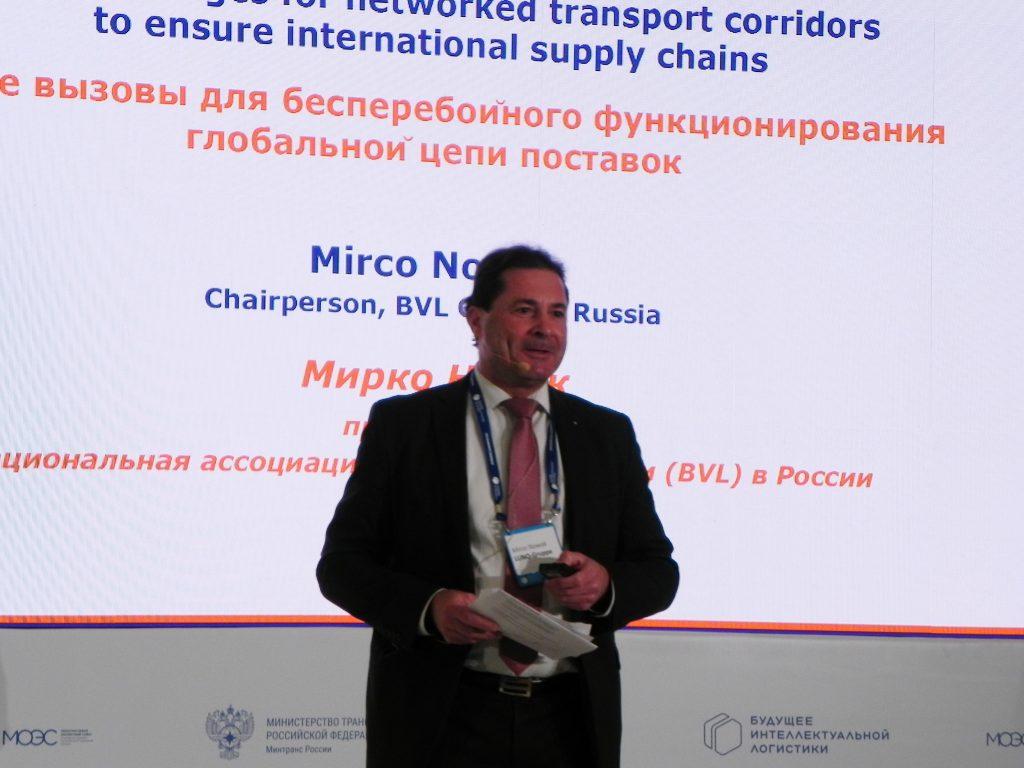 М.Новак, председатель Национальной ассоциации логистов Германии (BVL) в России